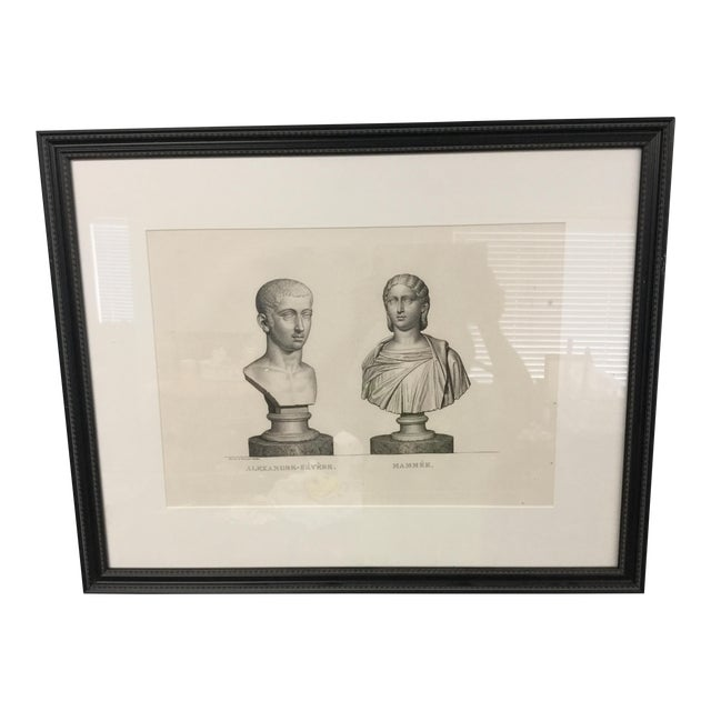 """Early 19th Century """"Alexandre-Severe Mamme."""" Framed Engraving Print For Sale"""