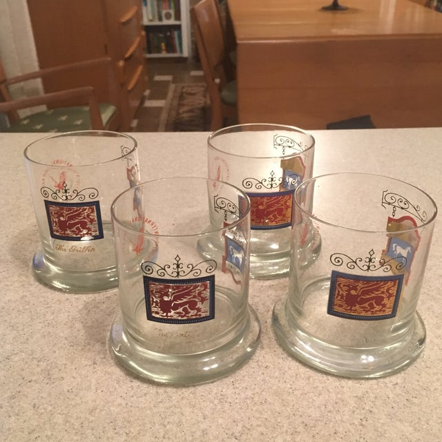 The White Horse Cellar Vintage Tumbler Glasses - Set of 4 For Sale - Image 5 of 7