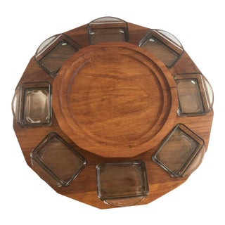 Mid-Century Modern Boho Chic Lazy Susan For Sale