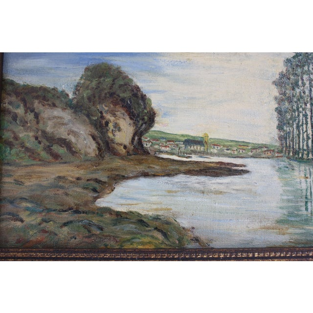 1930s Vintage Framed Fauvist Oil on Board Landscape Painting For Sale In Dallas - Image 6 of 6