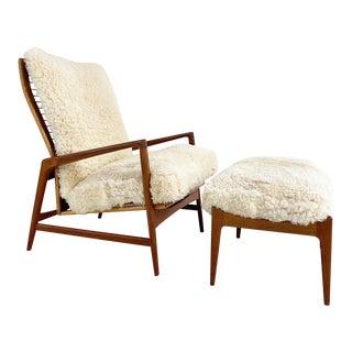 Ib Kofod-Larsen Lounge Chair and Ottoman For Sale