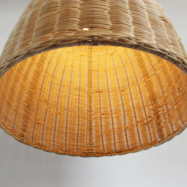 Medium Raw Rattan Pod Lantern - Image 4 of 4