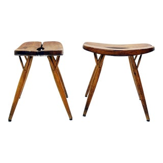 Pair of Two Pirkka Stools by Ilmari Tapiovaara for Laukaan Puu - Finnland 1960s For Sale