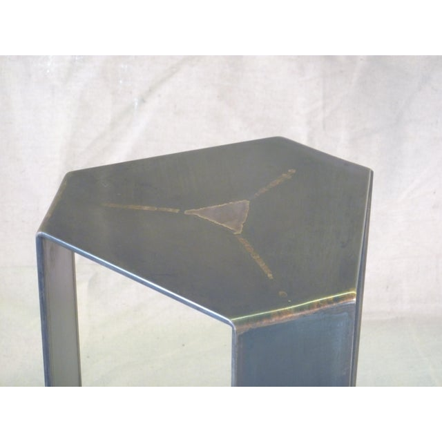 Bronze & Steel Foliage Table For Sale - Image 4 of 6