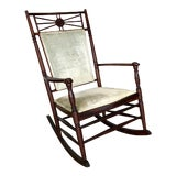 Image of Late 19th Century Antique Wooden Rocking Chair For Sale