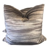 """Image of Impressionist Printed Velvet 22"""" Pillows-A Pair For Sale"""