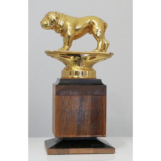 Modern Brass Bulldog Trophy For Sale - Image 3 of 7