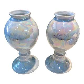 Yerba Mate Lusterware Cups, Pair For Sale