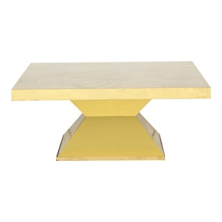 1970s Mid-Century Modern Willy Daro Brass Low Table For Sale