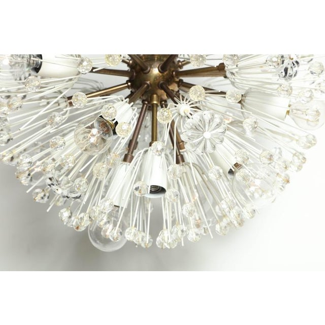 """Rupert Nikoll 1950s Emil Stejnar """"Snowball"""" Brass and Hand Cut Crystal Hanging Pendant For Sale - Image 4 of 10"""