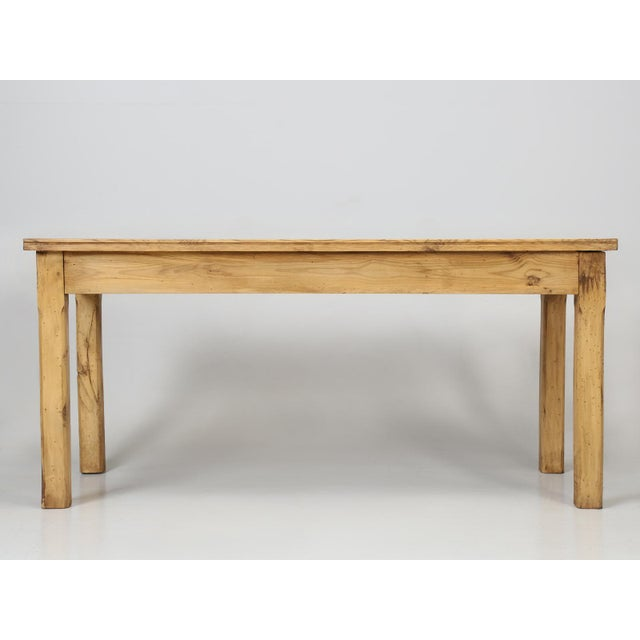 French Pine Farm Table in a Beeswax Finish For Sale - Image 4 of 11