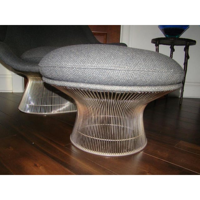 Knoll Warren Platner Throne Chair & Ottoman Lounge For Sale - Image 5 of 10