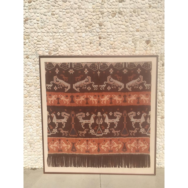 Late 19th Century 19th Century Framed Indonesian Ikat Art From Steve Chase Palm Springs Estate For Sale - Image 5 of 6