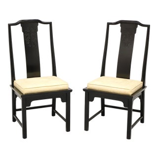 Century Chin Hua Raymond Sobota Asian Chinoiserie Dining Side Chairs - Pair A For Sale