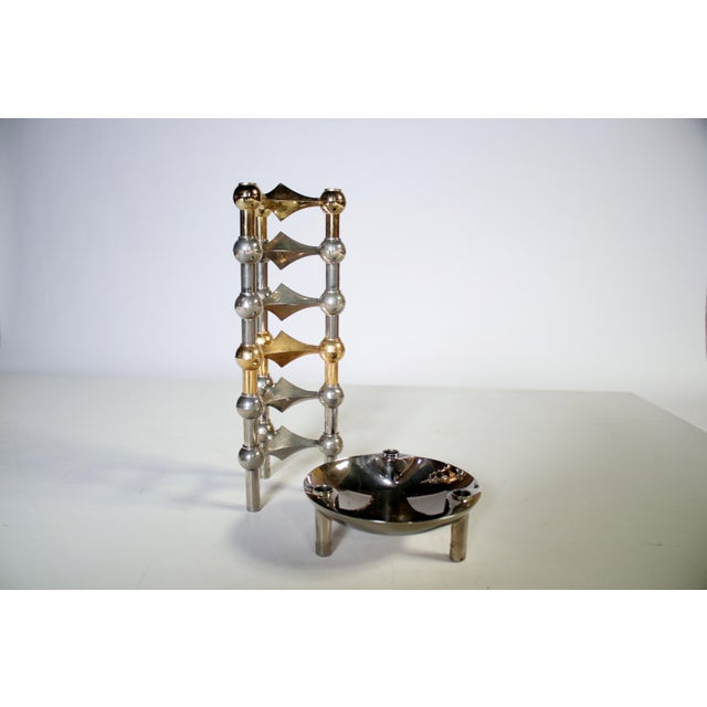 Caesar Stoffi Modular Candle Holders and Bowl by Nagel - Image 6 of 6