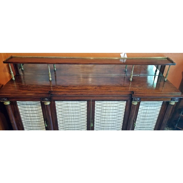 Early 19c English Chiffonier in the Manner of Gillows For Sale - Image 11 of 13