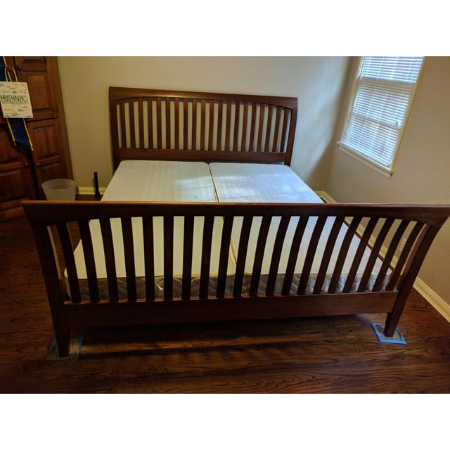 Ethan Allen American Impressions Solid Cherry California King Bed For Sale - Image 9 of 9