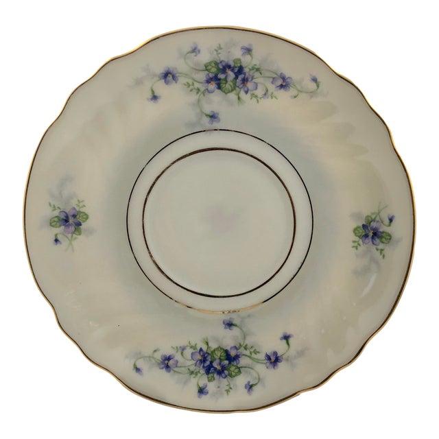 1950s Johann Haviland Violets Pattern Saucer For Sale