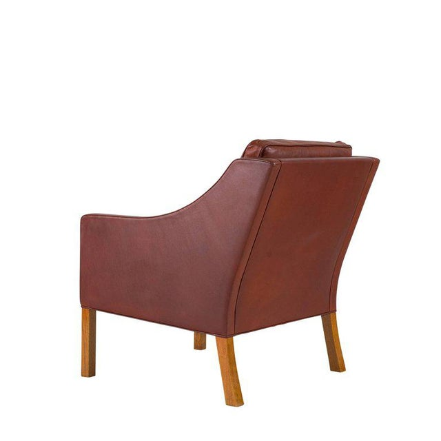 Børge Mogensen Model #2207 Leather Lounge Chair For Sale In Los Angeles - Image 6 of 10