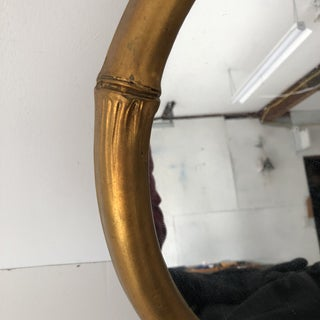 Italian Faux-Bamboo Round Mirror C. 1970s Preview