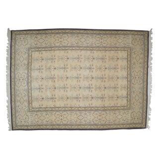 "Hand-Woven Oushak Carpet - 12' x 9'2"" For Sale"