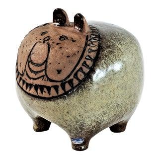 1950s Scandinavian Lisa Larson Ceramic Bulldog Figurine For Sale