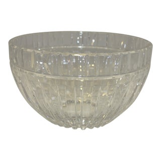 Tiffany & Co Crystal Glass Atlas Large Bowl For Sale
