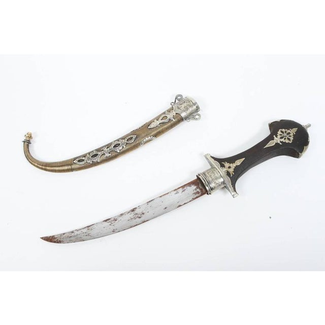 Moroccan Berber tribal Khoumya Dagger. Handcrafted by Artisans in Morocco, very Fine quality craftsmanship with a wooden...