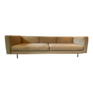 Italian Modern Cassina Sofa Upholstered in Knoll Textiles Quartz For Sale