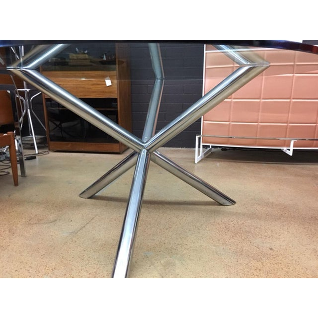 Milo Baughman Style Jax Dining Table For Sale - Image 4 of 8