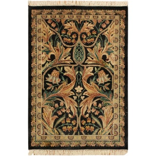"International Pak-Persian Maranda Black/Gray Wool Rug - 2'6"" X 4'"