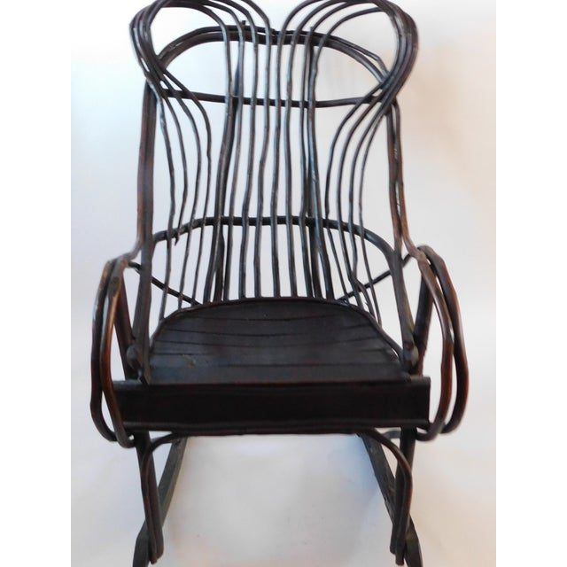 20th C. American Adirondack Twig Willow Rocking Chair For Sale - Image 12 of 13