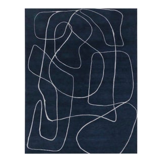 Doodle 5' x 8' Rug - Navy For Sale