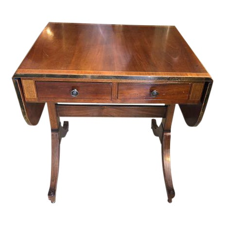 Antique Style Mahogany Sofa Table or Ladies Writing Desk. For Sale - Antique Style Mahogany Sofa Table Or Ladies Writing Desk. Chairish