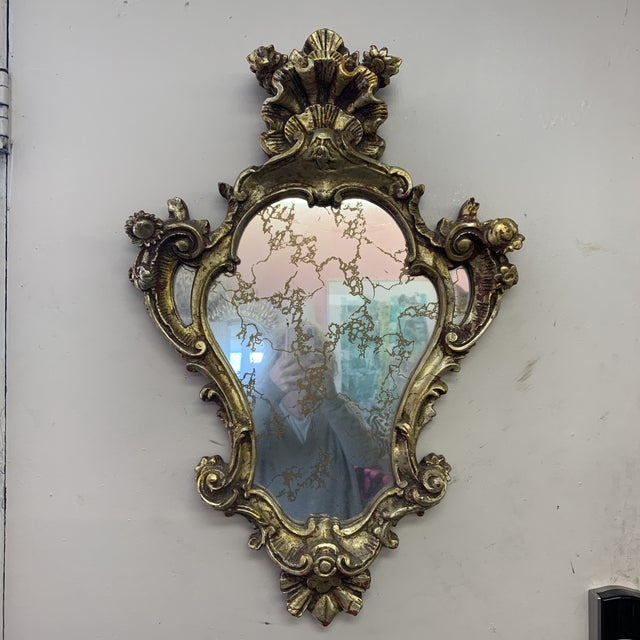 Chunky Rococo Italian Leaf Gilt Mirror For Sale - Image 12 of 12