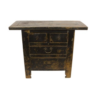 Black Gansu 4 Drawer Small Cabinet For Sale