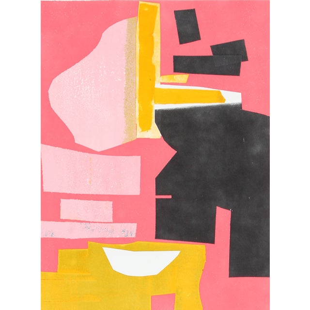 "Rob Delamater 2015 ""Build VIII"" Monotype - Image 1 of 2"