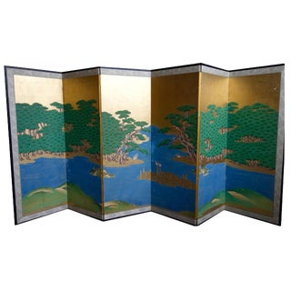Japanese Kano School Multi Panel Screen C. 19th For Sale
