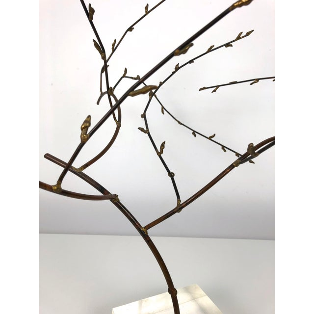 Brass 1970s Brutalist Brass Willow Tree Sculpture For Sale - Image 7 of 11