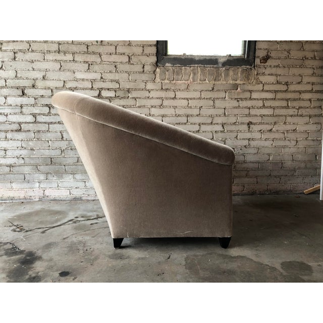 Tan Minotti Mohair Lounge Chair and Ottoman For Sale - Image 8 of 12