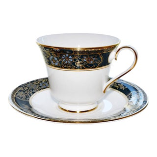Royal Doulton Carlyle H Gold Tea Cup & Saucer For Sale