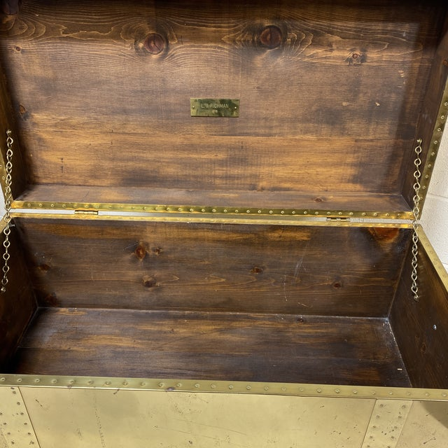 Vintage Brass Trunk For Sale - Image 10 of 13