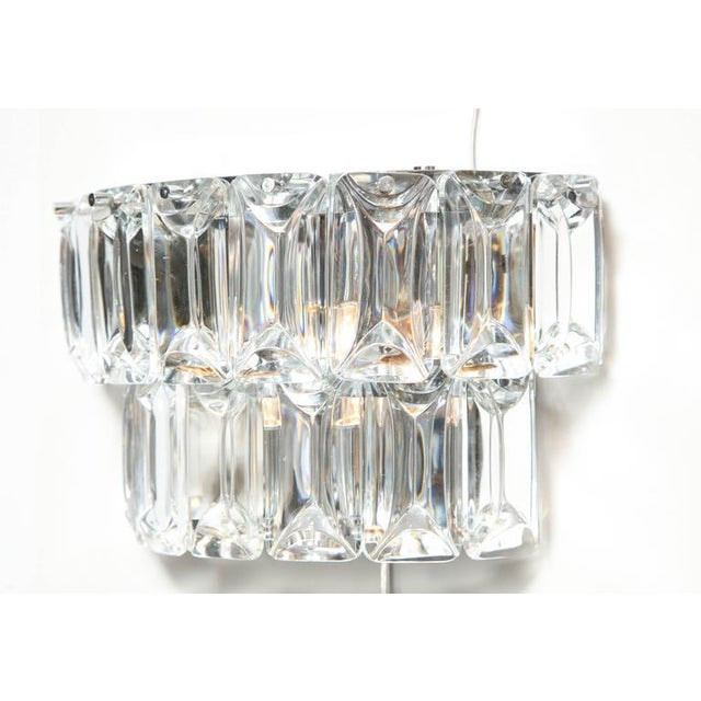 Modern Glamorous 1970s Austrian Crystal Sconces For Sale - Image 3 of 10