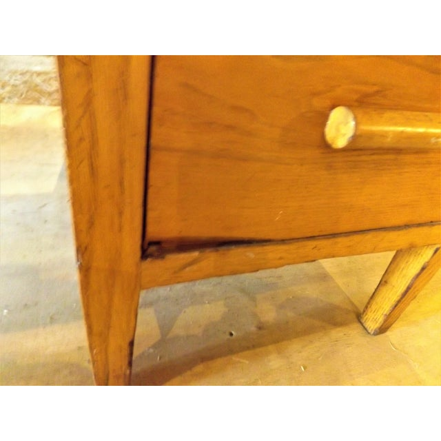 Brown 1960s Rustic Oak Writing Desk For Sale - Image 8 of 10