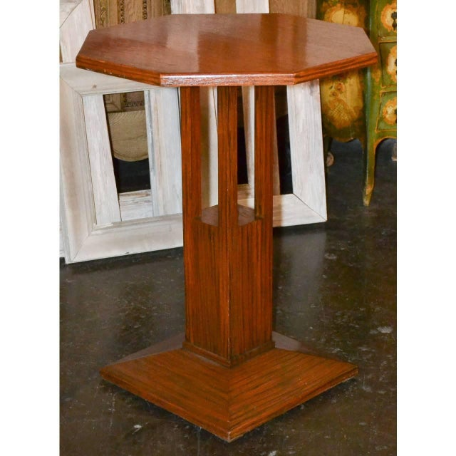 Midcentury Tiger Oak Stand For Sale In Dallas - Image 6 of 7