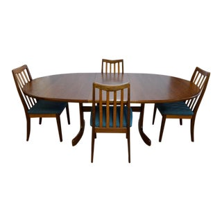 1960s Mid-Century Modern Kofod-Larsen Teak Dining Set - 5 Pieces For Sale