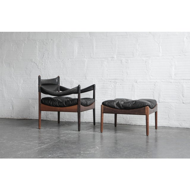 Kristian Solmer Vedel Modus Lounge Chair & Ottoman - Image 2 of 8