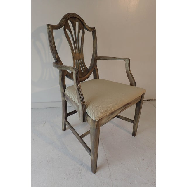 Duncan Phyfe Style Side Chair Distressed Decor Finish 38.5H x 23D x 24W For Sale In New York - Image 6 of 9