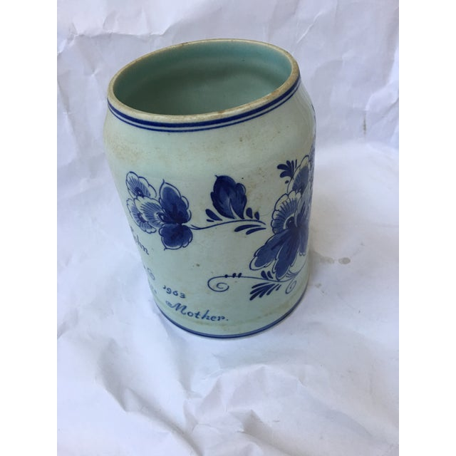 Country Hand Painted Personalized Delft Mug For Sale - Image 3 of 10