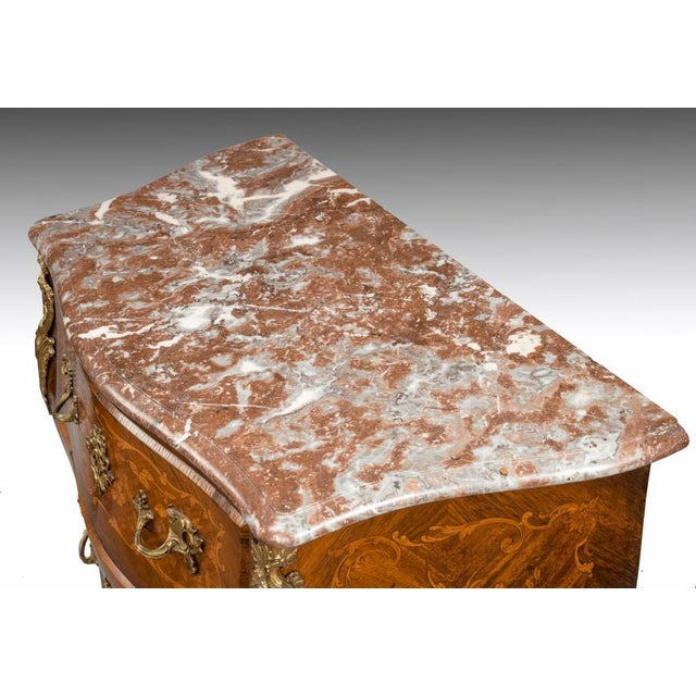 Carrara Marble A 19th Century Inlaid Commode, Circa 1850 For Sale - Image 7 of 8